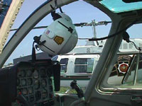 Photograph of Helicopter Cockpit